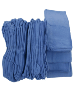 Reclaimed Cleaning Rags – Blue Huck Towels – 50 Piece Pack